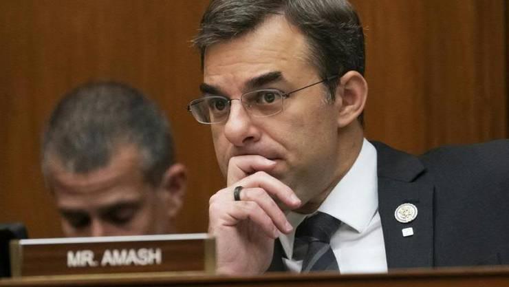 Der ehemalige Republikaner Justin Amash lotet die Möglichkeit einer unabhängigen Kandidatur für die US-Präsidentschaft aus. (Archivbild)