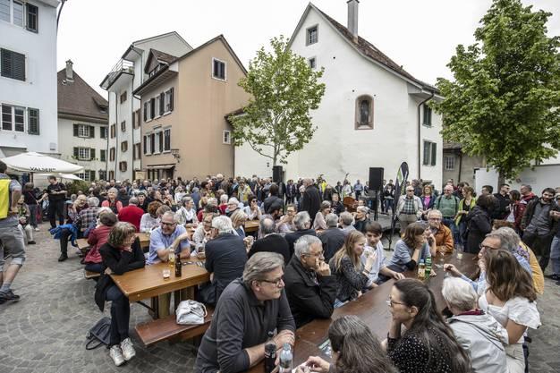 Viele verfolgten die Rede der Aargauerin