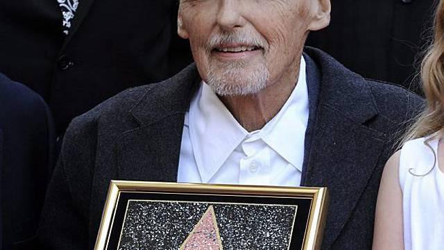 Dennis Hopper mit seinem Stern