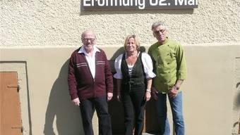 Godi Neuenschwander (links) sowie Silvia und René Tscherrig-Göldi.