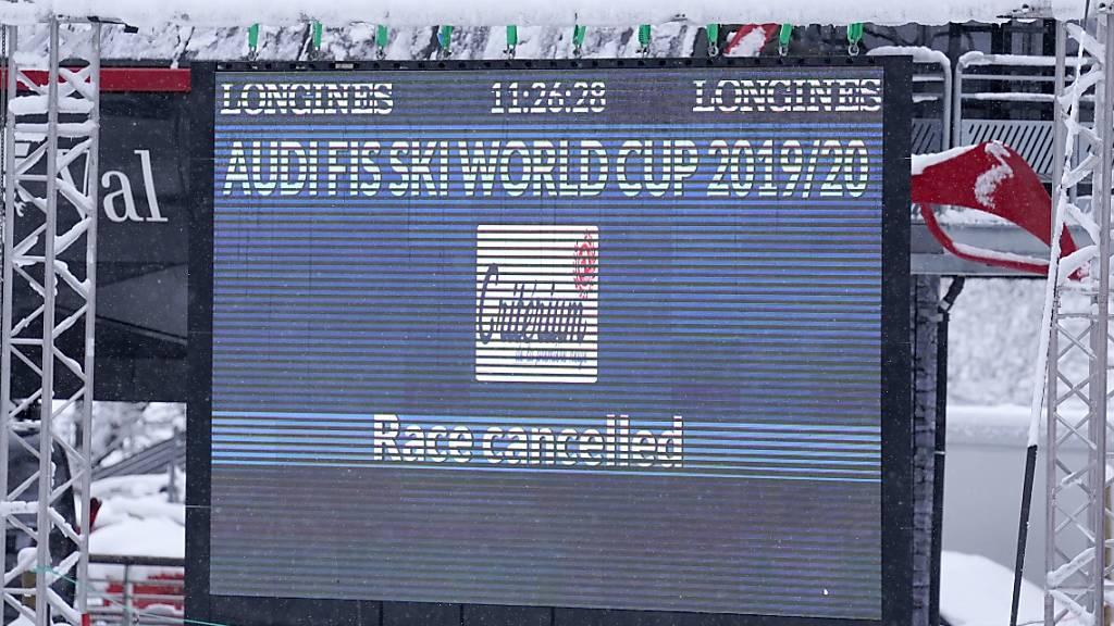 Wie schon tags zuvor kann in Val d'Isère die Weltcup-Abfahrt der Frauen auch am Sonntag nicht stattfinden