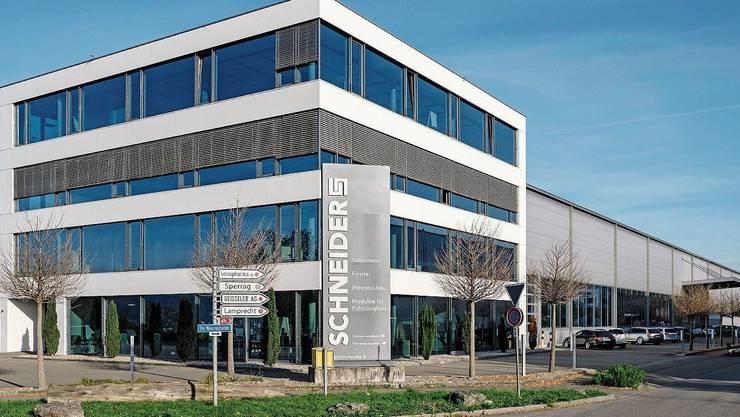 Zwei Drittel der Stellen weg: Schreinerei Schneider AG in Pratteln.