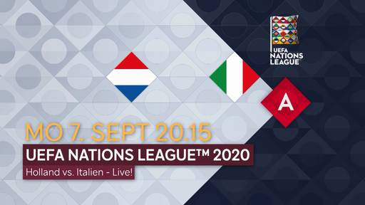 Fussball: UEFA Nations League 2020: Niederlande - Italien