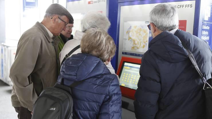 Praktische Übung am Billettautomaten