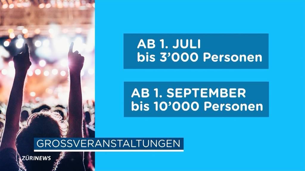 Bundesrat kündigt an: Grossveranstaltungen ab 1. Juli wieder möglich