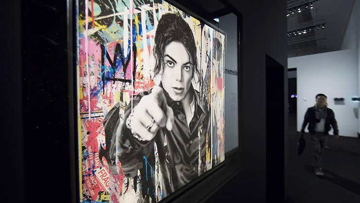 """Michael Jackson in einer Darstellung des Künstlers Mr Brainwash: Das Gemälde ist Teil der Ausstellung """"Michael Jackson: On the Wall"""", die das Grand Palais in Paris bis 14. Februar 2019 zeigt."""