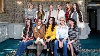 Die elf Kandidatinnen für die Miss Schweiz Wahl 2018.