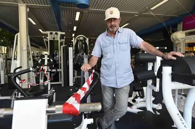Marcel Pesse fährt das Gruppenfitness wieder hoch und hofft, dass wieder mehr Leute trainieren kommen.