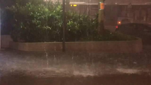 Schweres Unwetter in der Region Lausanne