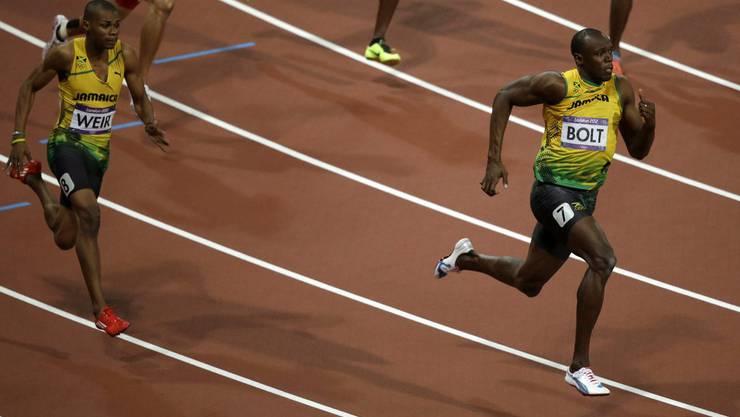 Bolt gewinnt vor seinen beiden Landmännern den 200-Meter-Final