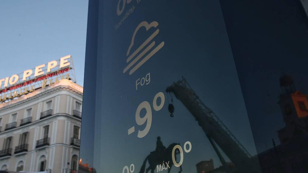 Wintersturm in Spanien: Zahl der Toten steigt auf sechs