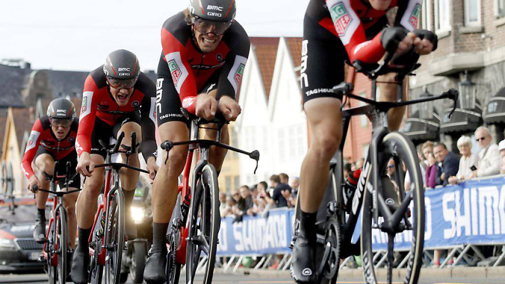 Das Team BMC musste an der WM in Bergen im Teamzeitfahren mit der Silbermedaille Vorlieb nehmen