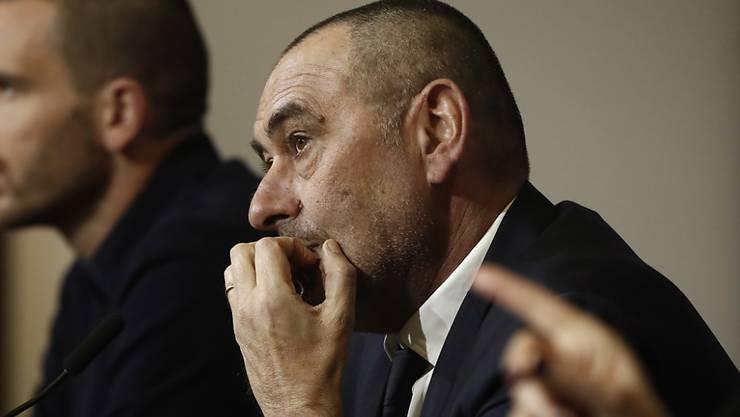 Juventus Turin von Trainer Maurizio Sarri pausiert an diesem Wochenende