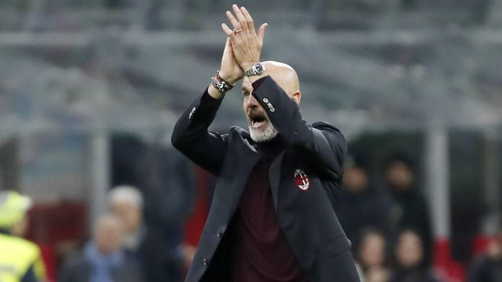 Stefano Pioli beklatscht seinen ersten Sieg als Milan-Trainer