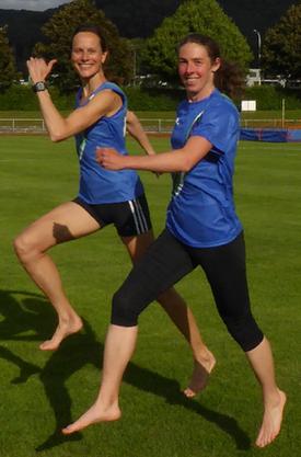 Kristina da Fonseca-Engelhardt (l.) und Chantal Bernet wollen zeigen wie man richtig läuft.