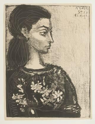 Pablo Picasso, Femme au corsage à fleurs, 1958