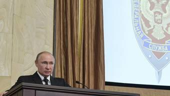 Russlands Staatschef Putin nahm an der Jahressitzung des Inlandgeheimdienstes FSB teil.