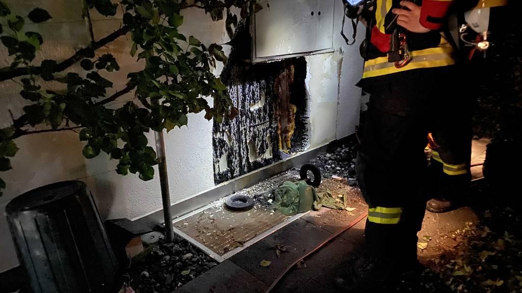 MM170_Grüncontainer durch Flammen zerstört