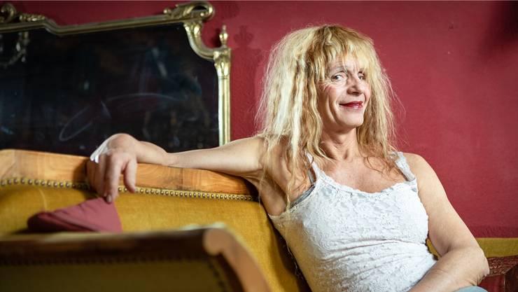 Stella Luna Palino in ihrer «Unvermeidbar» in Baden. Derzeit probt sie für das Stück «Die Mücke widerspricht».