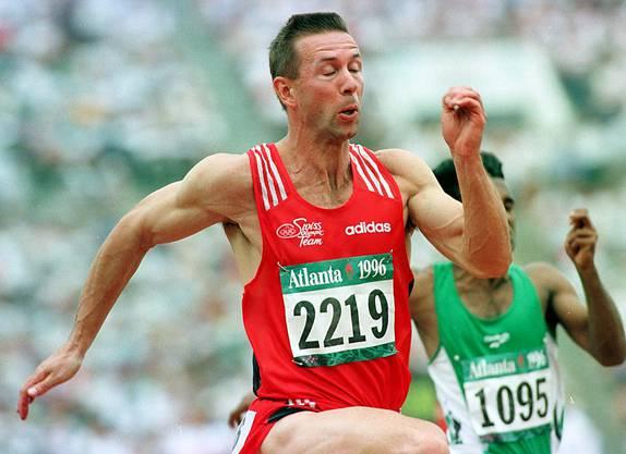 Stefan Burkart an den Olympischen Spielen in Atlanta 1996.