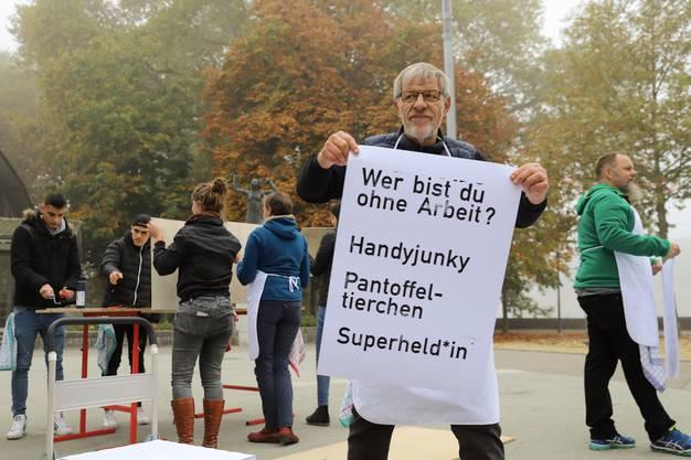 An verschiedenen Standorten (hier in Solothurn) fand die Aktion statt