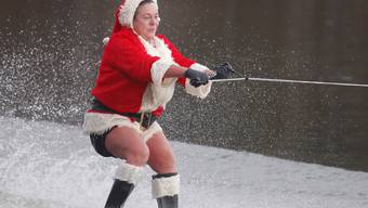 Wasserski-Fahren an Weihnachten: Der vergangene Dezember war der wärmste je gemessene in den USA.