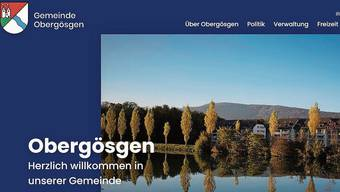 Die neue Homepage der Gemeinde Obergösgen im neuen Design.
