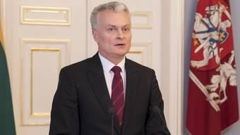 Der neue litauische Staatspräsident Gitanas Nauseda hat sein Amt am Freitag angetreten. (Archivbild)