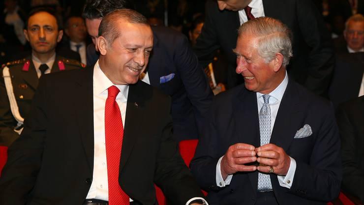 Der türkische Präsident trifft Prinz Charles anlässlich der Gedenkfeier des Massakers vor 100 Jahren: Recep Tayyip Erdogan spricht von «traurigen Ereignissen».