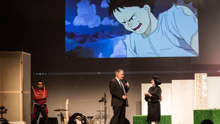 Regierungsrat Alex Hürzeler am Animationsfilmfestival Fantoche in Baden. (Archiv)