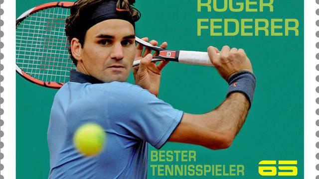 Federer als österreichische Briefmarke