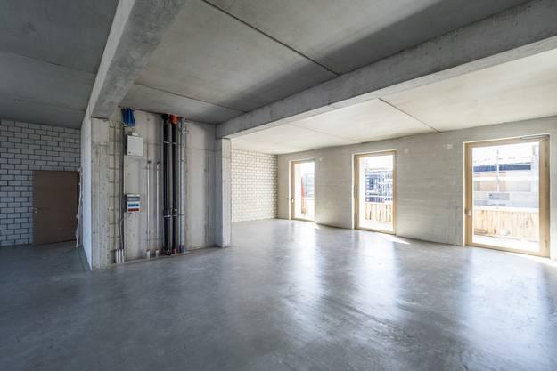 Helle, grosse Räume, aber keine Einbauten: Das gehört zum Prinzip.