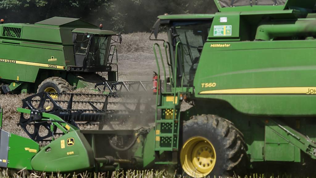 Schwere Maschinen schaden den landwirtschaftlichen Böden