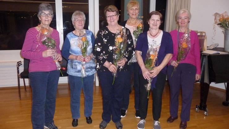 Sechs unserer sieben neuen Mitglieder