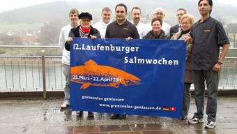 Garant für kulinarische Köstlichkeiten: Das Laufenburger Salmwochen-Team.  hot