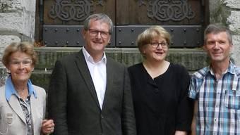 Von links: Pia Sudan, Peter Moor-Trevisan, Gabriela Iseli-Arlati und Emile Stricker.