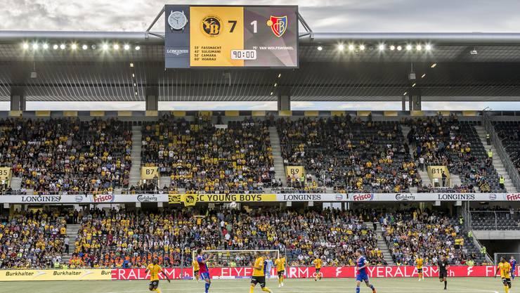 Ein Tag für die Geschichtsbücher: der FC Basel unterliegt YB mit 1:7.