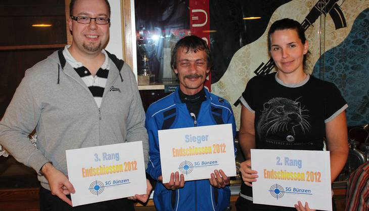 von links nach rechts: 3. Rang Bruno Barmettler, 1. Rang Urs Frey, 2. Rang Simone Stirnimann