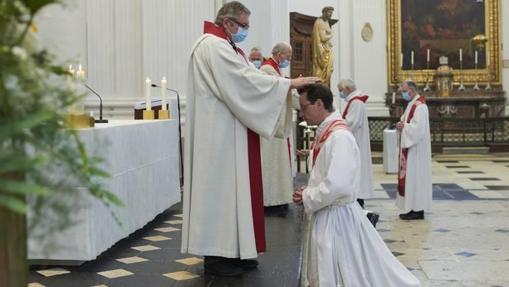 Am Mittwoch wurde der Balsthaler Joel Eschmann in der St.-Ursen-Kathedrale zum Priester geweiht.