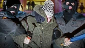 Eine Festnahme in St. Petersburg