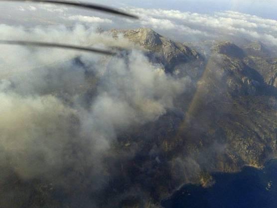 Der Blick aus dem Flugzeug