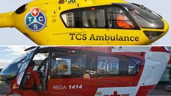 TCS oder Rega – welcher Heli fliegt wann im Aargau?