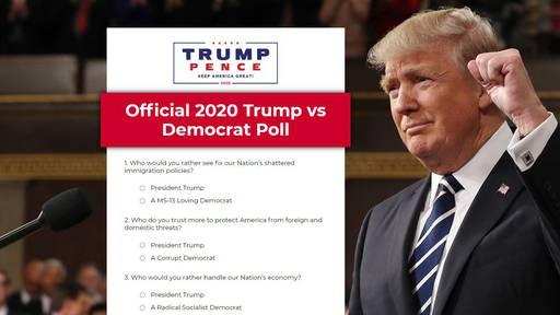 Mit dieser Umfrage fühlt Trump den Puls der Wählenden.