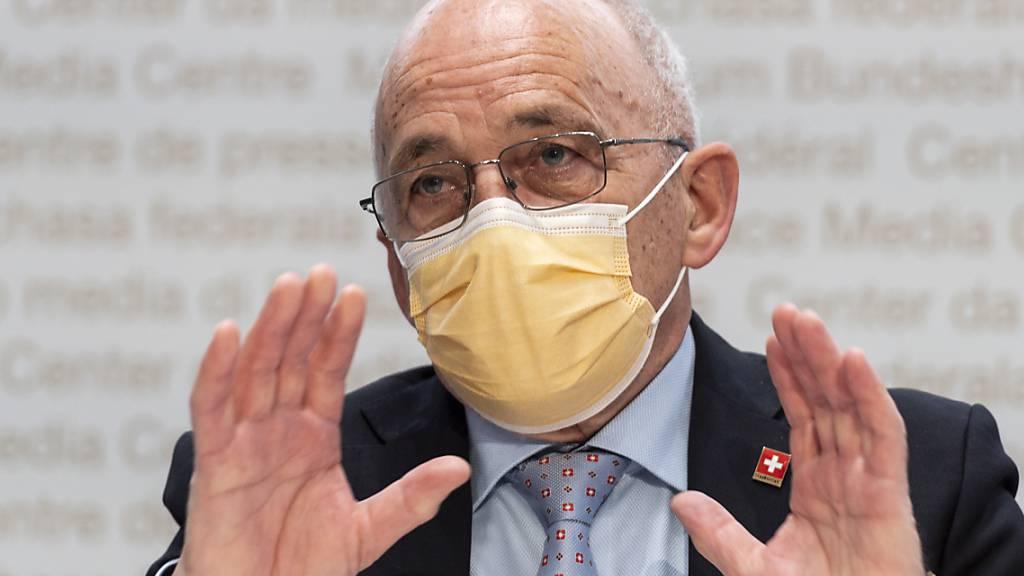 Unter der Federführung von Finanzminister Ueli Maurer prüfte der Bund die Einführung einer Pandemieversicherung. (Archivbild)