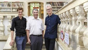 Auch sie schreiben Stadtgeschichte (v. l.): Fabian Saner, Urban Fink und Peter Keller.