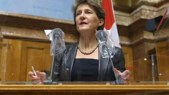 Baut die LSVA um: Bundesrätin Simonetta Sommaruga.