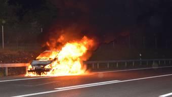 Autobrand A5 bei Zuchwil