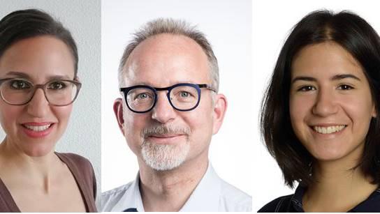 (v.l.): Isabelle Bechtel (Vorschlag SP), Thomas Haller (Vorschlag SP), SVP-Einwohnerrätin Naomi Rupp.