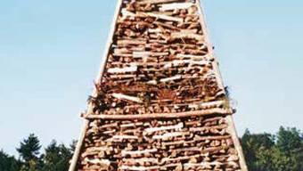 Das Chutzenfeuer im Jubiläumsjahr 1991 auf dem Homberg.