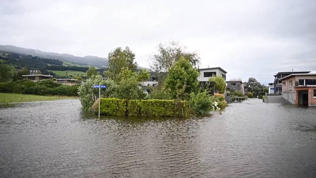 Kanton Obwalden: Quartier in Ried bei Giswil überflutet